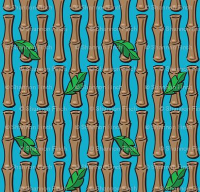 Kitsch Tiki - Lil' Bamboo - Aqua