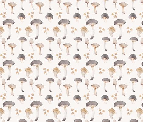 Mushroom Collection fabric by crowntea on Spoonflower - custom fabric