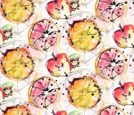Waterfru fabric by artishark on Spoonflower - custom fabric
