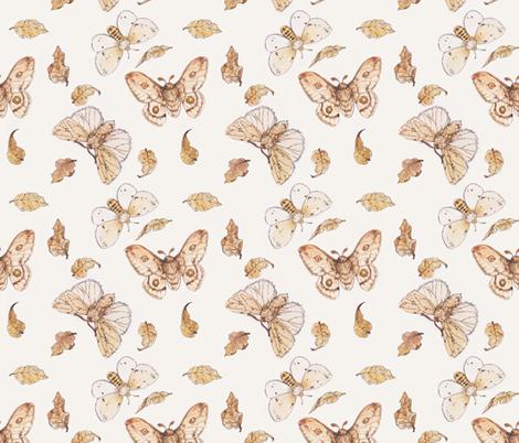 Autumn Moths fabric by crowntea on Spoonflower - custom fabric