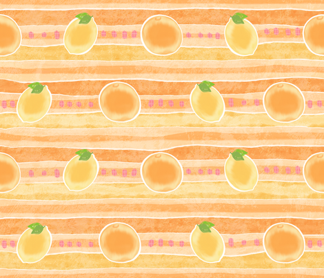 Fruity-Stripes for Cotton Knits fabric by piper_&_paige on Spoonflower - custom fabric