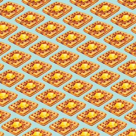 Waffle fabric by kellygilleran on Spoonflower - custom fabric