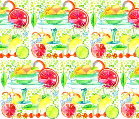 Fruit_Watercolor_Spoonflower fabric by artgirlangi on Spoonflower - custom fabric
