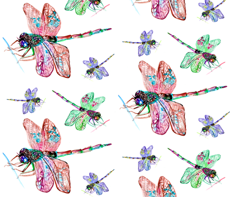 dragonfly_spoonflower fabric by artgirlangi on Spoonflower - custom fabric