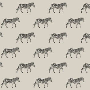 zebras on beige