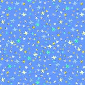 stars on blue sky