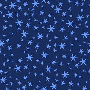 blue stars on night sky