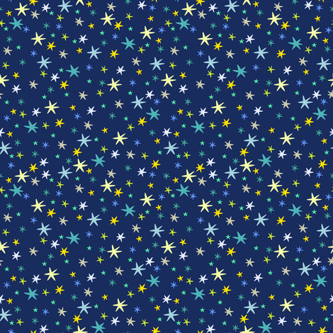 stars on nightsky fabric by lilalunis on Spoonflower - custom fabric