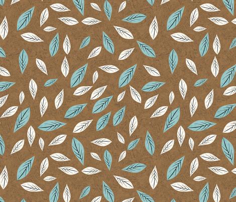birdwaves-brown fabric by gaiamarfurt on Spoonflower - custom fabric