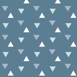 triangles // blue and mint