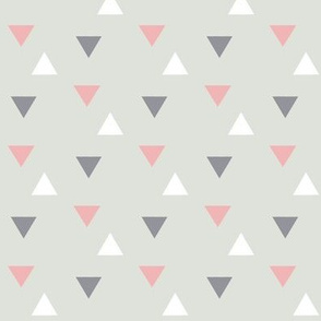 triangles // pink and grey