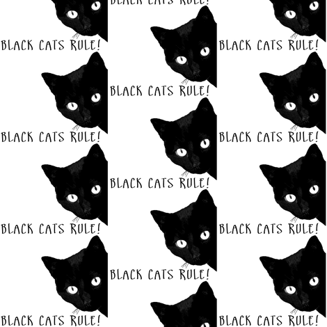 BLACK CATS RULE fabric by petiteapple on Spoonflower - custom fabric