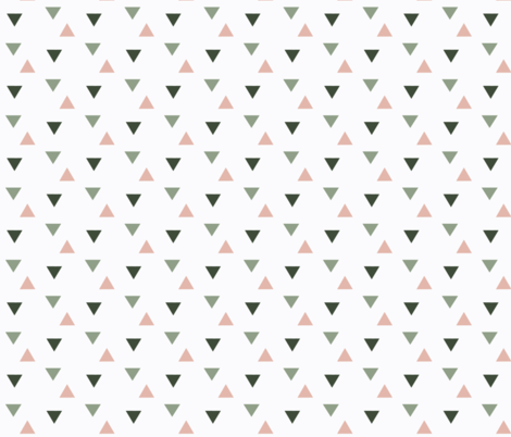 triangles // pink and green fabric by graysandtorreys on Spoonflower - custom fabric