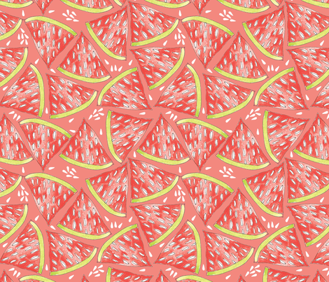 Juicy Watermelon fabric by cathleenbronsky on Spoonflower - custom fabric