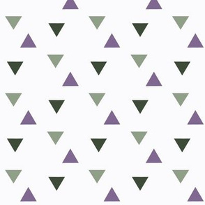 triangles // green and purple