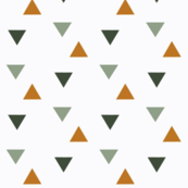 triangles // green and gold