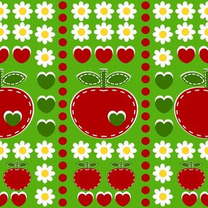 applique appleword_green