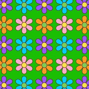 colorful flowers_green