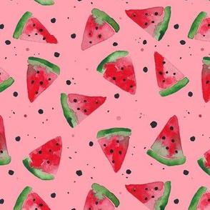 Watercolour Watermelon Splatter Spot - Pink