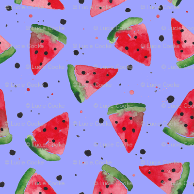 Watercolour Watermelon Splatter Spot - Lilac