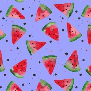 Watercolour Watermelon Splatter Spot - Lilac