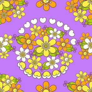 retroflower bouquet_lavender