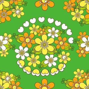 retroflower bouquet_green