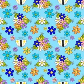butterfly retroflowers_lightblue