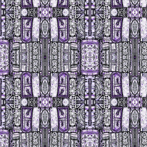 woven patchwork purple