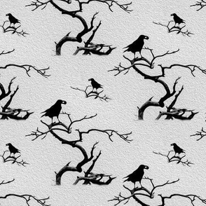 branch and crow in gray - potter's world