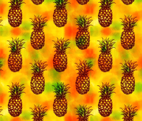 Jammin Pineapple fabric by sugarpinedesign on Spoonflower - custom fabric