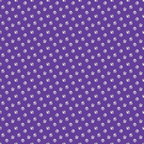 Trotting paw prints coordinate - winners purple