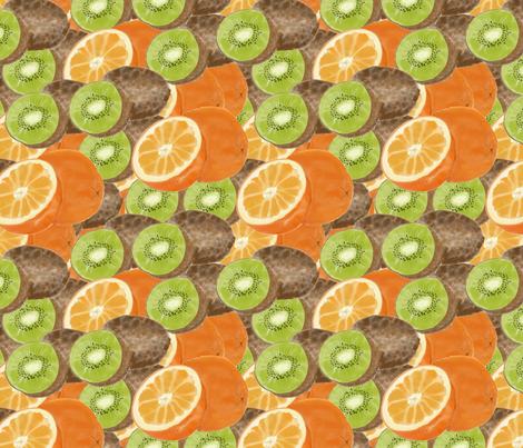kiwi meets orange fabric by laurajohanna on Spoonflower - custom fabric