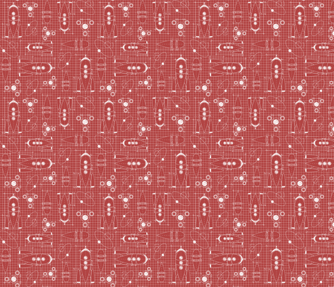 Space_Race_Engineering_Red-02 fabric by hellomellydesigns on Spoonflower - custom fabric