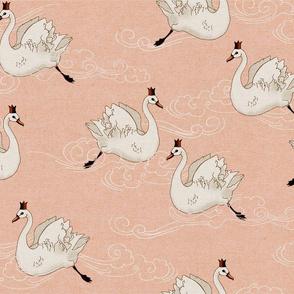 Valentine Swans (peach)