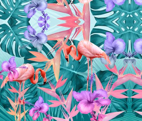 tropicalparty_7v4 fabric by kociara on Spoonflower - custom fabric