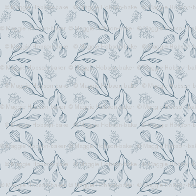 Blue Nature Inspired Pattern