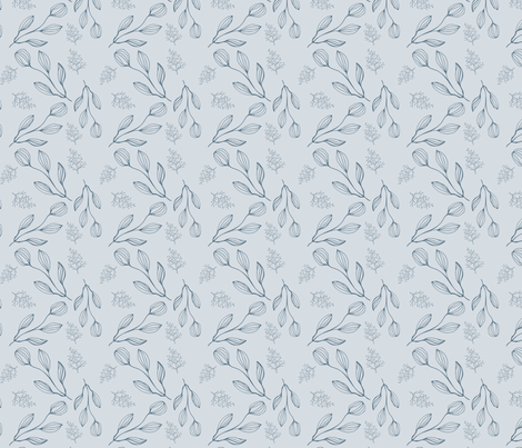 Blue Nature Inspired Pattern fabric by 2329_design on Spoonflower - custom fabric