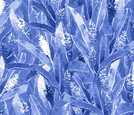 Awapuhi Blue Indigo 150 fabric by kadyson on Spoonflower - custom fabric