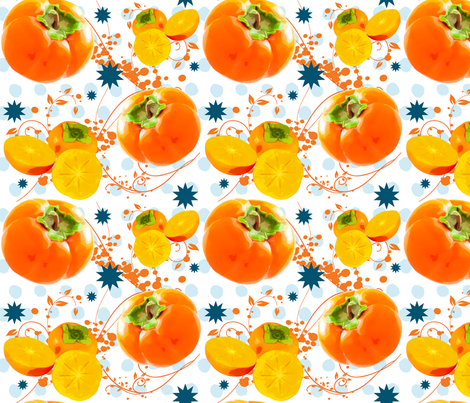 Watercolor Persimmon polka dot surprise fabric by brainsarepretty on Spoonflower - custom fabric