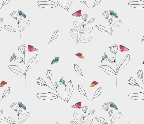 butterflies_and_plants fabric by meissa on Spoonflower - custom fabric