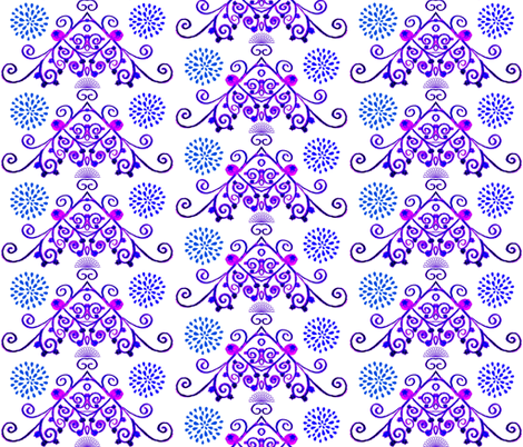 Blueberry Whim fabric by the_latest_whimsy on Spoonflower - custom fabric