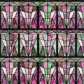 art deco fans pink