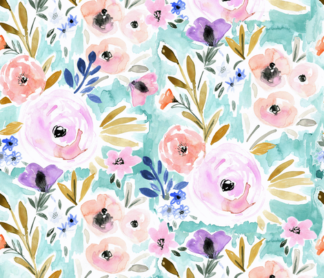 Willow Blooms fabric by crystal_walen on Spoonflower - custom fabric