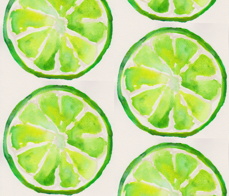 Summertime Lime fabric by lyndis on Spoonflower - custom fabric