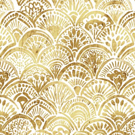Glam Gold Mermaid fabric by crystal_walen on Spoonflower - custom fabric