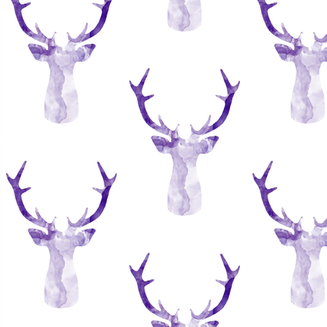 DEER ULTRA VIOLET fabric by moosedesigncompany on Spoonflower - custom fabric
