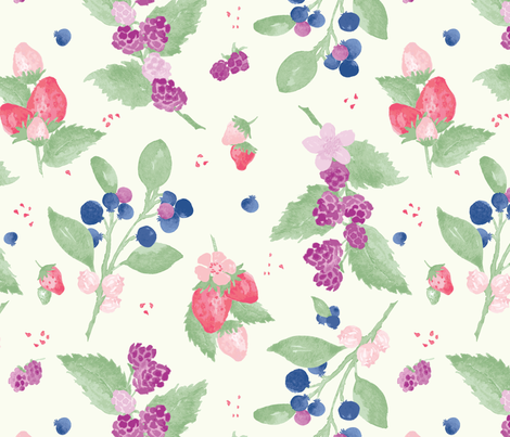 Berry Delicious fabric by cindi_g on Spoonflower - custom fabric