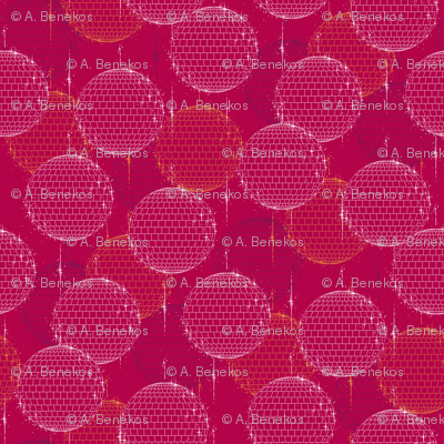 Disco Ball - Crimson