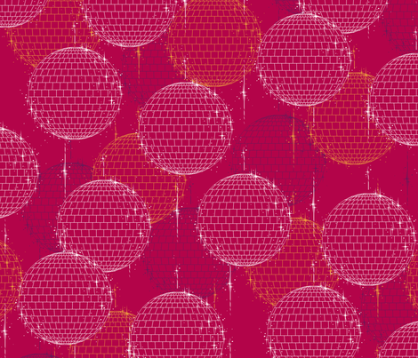 Disco Ball - Crimson fabric by siya on Spoonflower - custom fabric